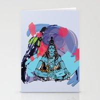 shiva Stationery Cards featuring Shiva by SACreativeTO