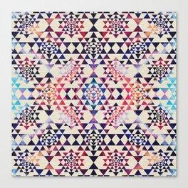 Sri Yantra  / Sri Chakra Pattern - Paint texture Canvas Print