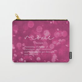 Moxie Definition - Pink Bokeh Carry-All Pouch