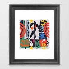 inspired to Matisse (black) Framed Art Print