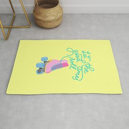 Let The Good Times Roll (Yellow Background) Rug