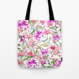 peony pattern Tote Bag