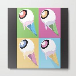 Eye Scream (Light) Metal Print