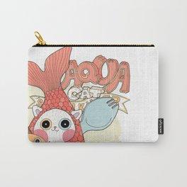 Aqua cat_ Rappa Carry-All Pouch