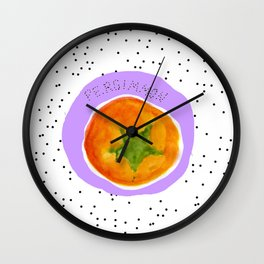 Pretty Persimmon Print Wall Clock