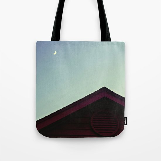 The Moon and The Red House Tote Bag