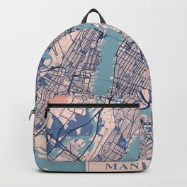 Manhattan - United States Breezy City Map Backpack