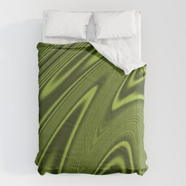 Abstract Fractal Colorways 03 Malalchite Lime Green Comforters