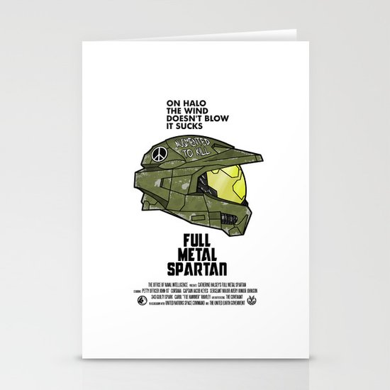 Full Metal Spartan Stationery Cards