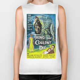The Thing That Couldn't Die - Vintage Horror Movie Poster Biker Tank