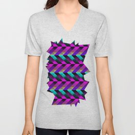 Dark Purple Unisex V-Neck