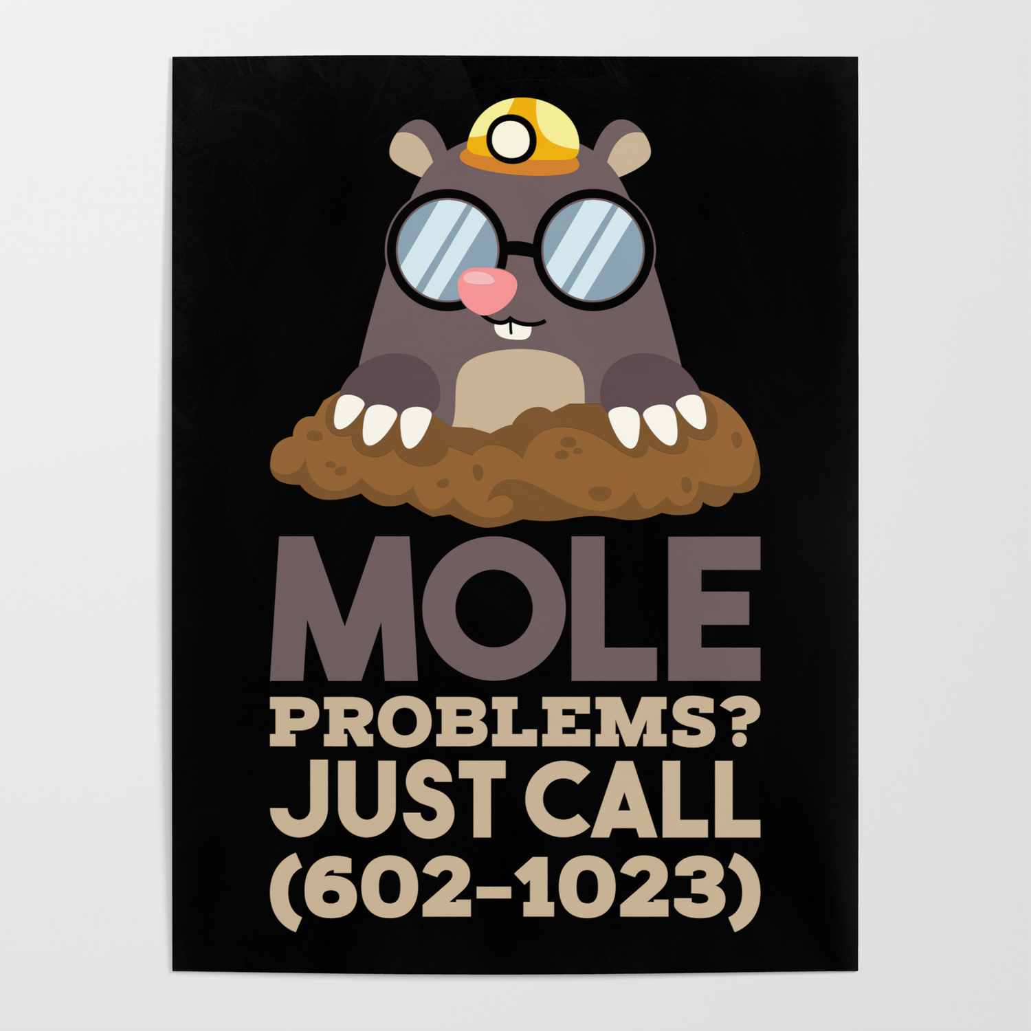 Funny Chemistry Mole Problems Poster By Galeriesilberschatz