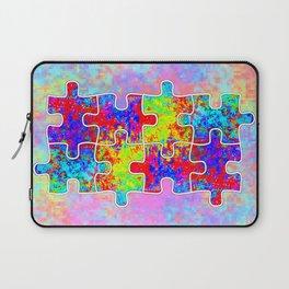 Autism Colorful Puzzle Pieces Laptop Sleeve