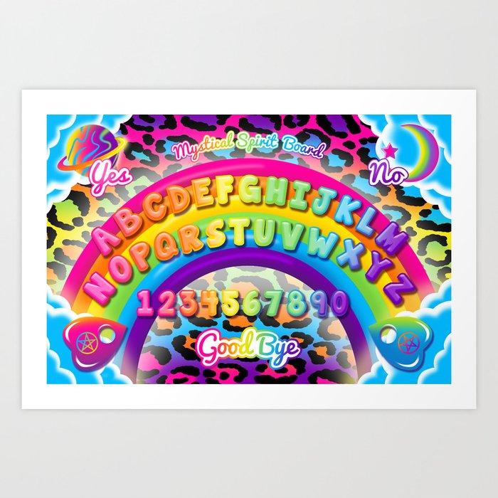 1997 Neon Rainbow Spirit Board Kunstdrucke