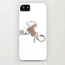 Cute, Smart & Funny Jerboa Tshirt Design Chef Jerboa iPhone Case