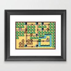 Super Mario Bros 3 World 1 Framed Art Print