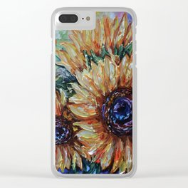 Ah, Sunflower by Lena Owens Clear iPhone Case
