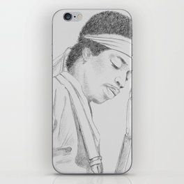 Hendrix print iPhone Skin