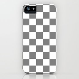 Checkered - White and Gray iPhone Case