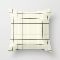 simple grid Throw Pillow