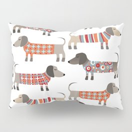 Sausage Dogs in Sweaters Pillow Sham