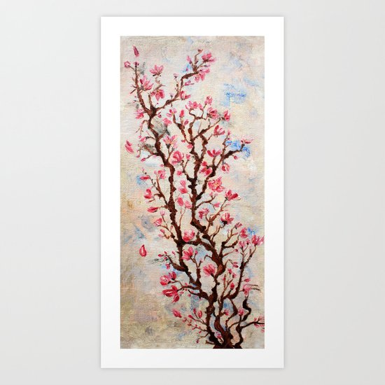 Sakura, spring Art Print
