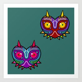 Majora Inspired Mask Art Print