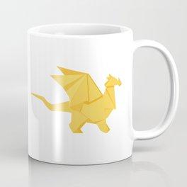 Origami Golden Dragon Coffee Mug