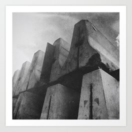 Tower Over Me With Barriers Art Print