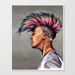 RGD Punk Rock Girl Portrait   Nikki the Bee Canvas Print
