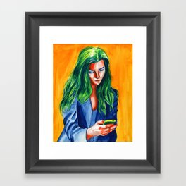 Tetrad girl Framed Art Print