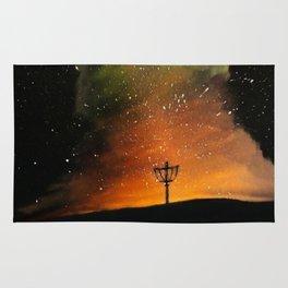 Orange Horizons Discing Rug