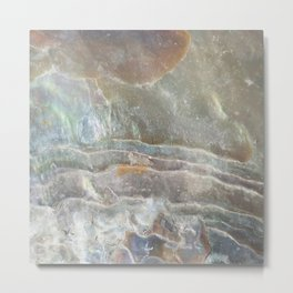 Stormy day abalone Metal Print