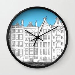 Dancing houses, Amsterdam Wall Clock