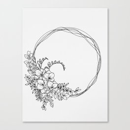 Freesia Wreath Canvas Print