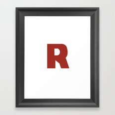 Letter R on White Framed Art Print