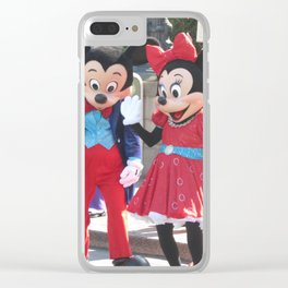 Disneyland 60th Characters - Mickey and Minnie Mouse, Pluto, and Donald Duck Clear iPhone Case