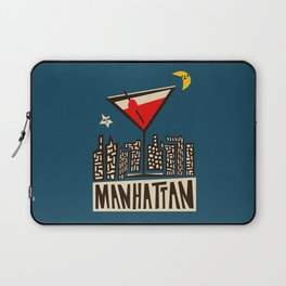 Manhattan Cocktail Print Laptop Sleeve