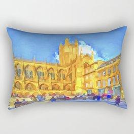 Bath Abbey Pop Art Rectangular Pillow