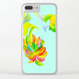 Green Bananas Clear iPhone Case