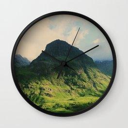 Mountain in Glencoe, Scotland Wall Clock
