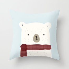 Bundled Bear Throw Pillow