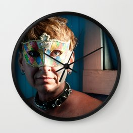 The Masked Submissive - A Portrait Wall Clock