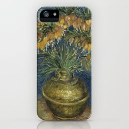 Vincent Van Gogh - Imperial Fritillaries in a Copper Vase iPhone Case