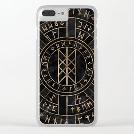 Web of Wyrd The Matrix of Fate- Marble and gold Clear iPhone Case