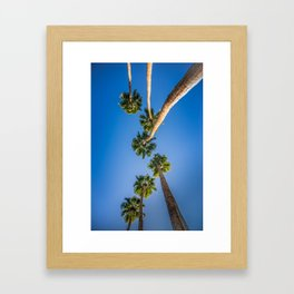 Upside Down LA Palms Framed Art Print