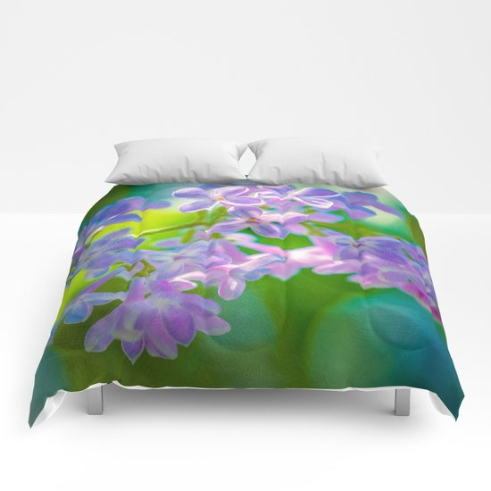 Purple Lilac Flowers Comforters