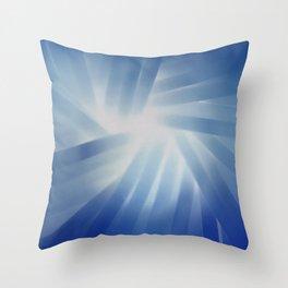 Blue Streaks of Light Throw Pillow