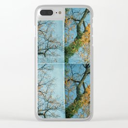 october trees Clear iPhone Case