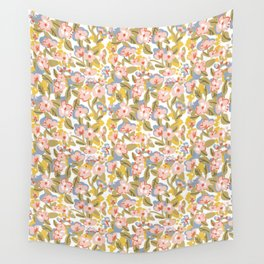 Colorful flower pattern Wall Tapestry